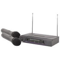QTX VH2 173.8 + 174.8MHz Dual VHF Wireless Microphone System
