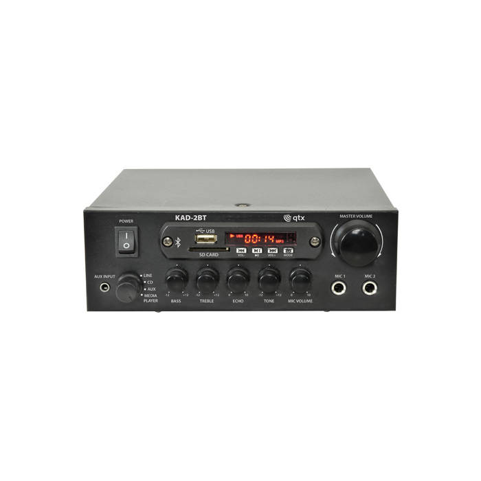 QTX KAD-2BT Compact Digital Stereo Amp w. Bluetooth