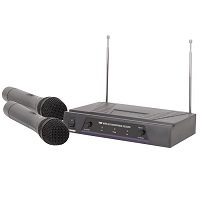 QTX VH2 174.1 + 175.0MHz Dual VHF Wireless Microphone System