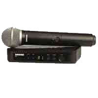Shure BLX24 with PG58 Wireless Handheld Microphone
