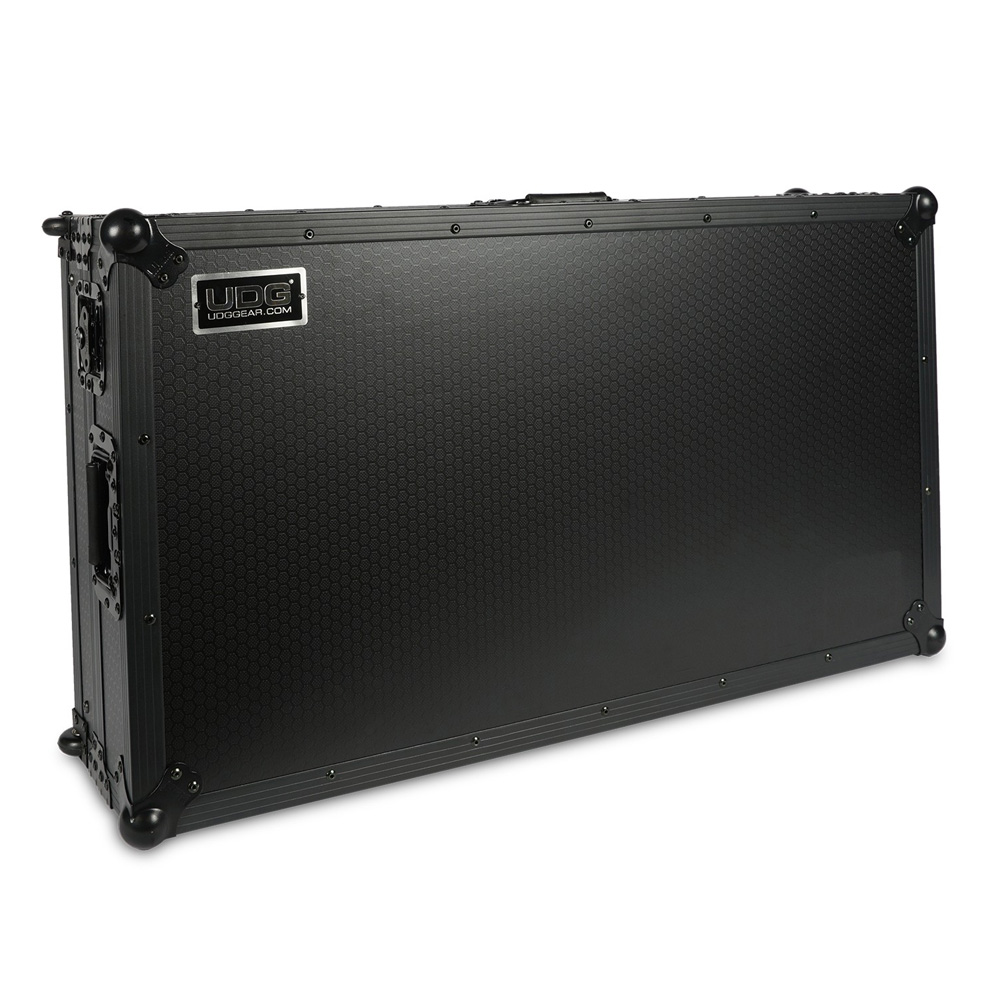 UDG Black Ultimate Flight Case Pioneer DDJ-RZ/SZ/SZ2 plus Laptop Shelf + Wheels