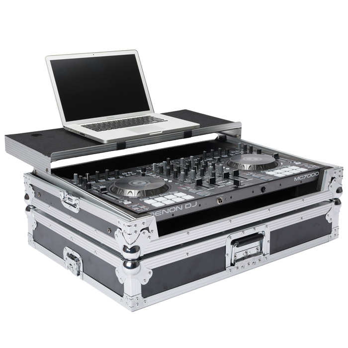 Laptop and controller not included. - Denon MC-7000 Case Magma