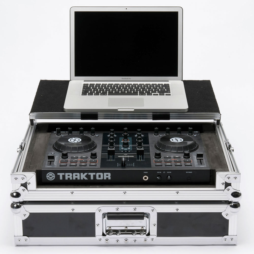 Laptop and controller not included. - Magma DJ Controller Workstation S2 Flightcase For Native Instrum