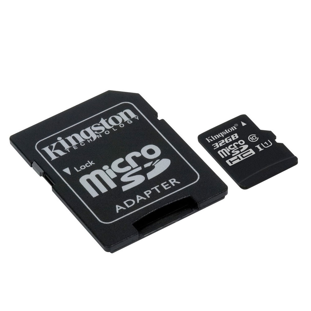 Micro SD Card 32GB (class 10) Kingston Canvas w/Adapter