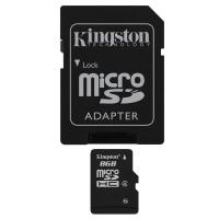 Micro SD Card 8GB (class 4) w/ Adapter
