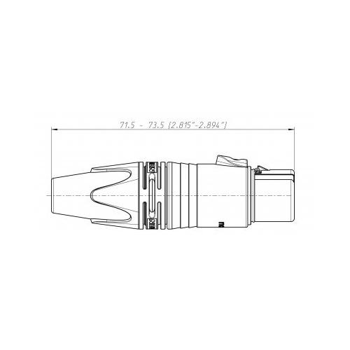 Neutrik NC3FXX - XLR 3-pin female connector