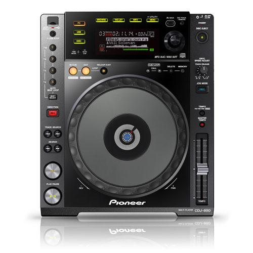 Pioneer CDJ-850 Digital Multimedia CD Deck, Black