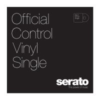 "Serato 12"" Control Vinyl - Performance Series - BLACK (SINGLE)"