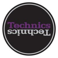 Technics Slipmat Mirror Logo Purple