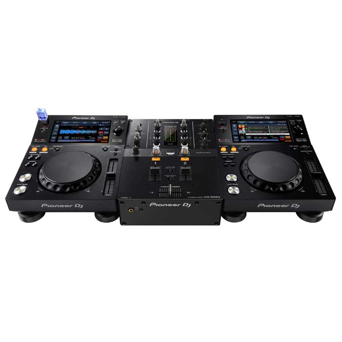 Set-up example. CDJs not included. - Pioneer DJM250 MK2 Mixer
