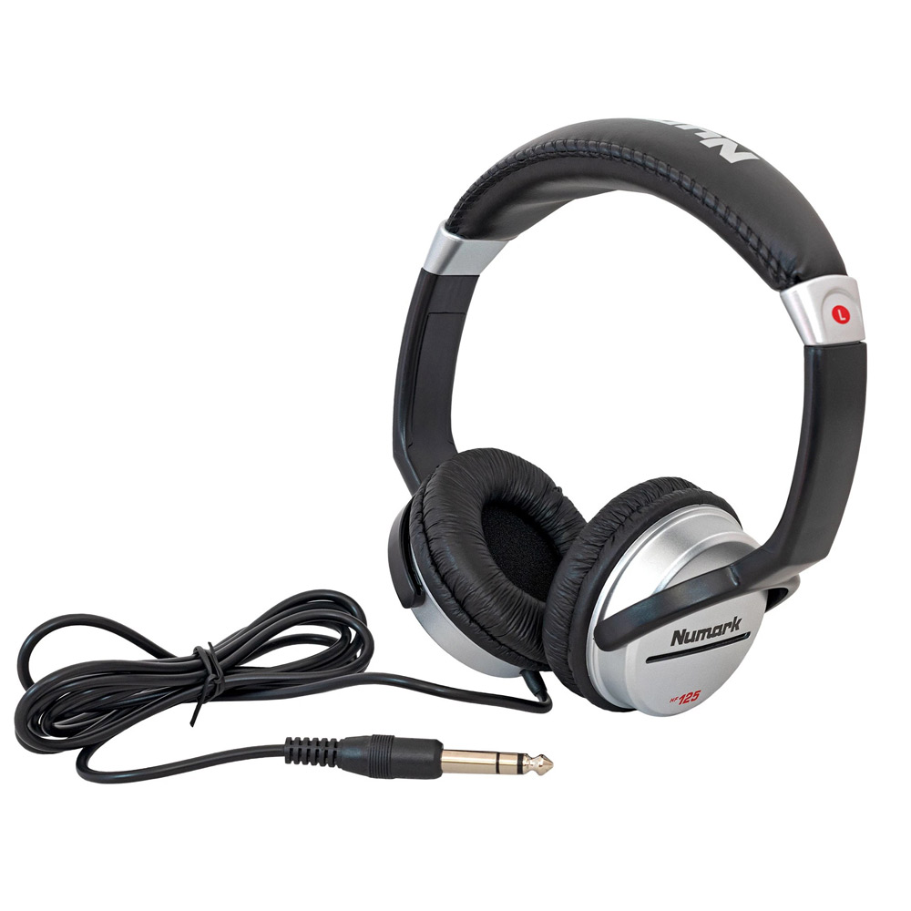 Numark HF-125 Stereo Headphones with Jack Connection