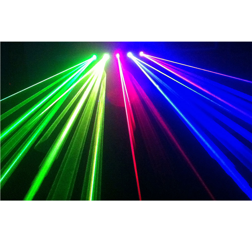 Ibiza 5-Lens RGBYP Laser With DMX 560MW