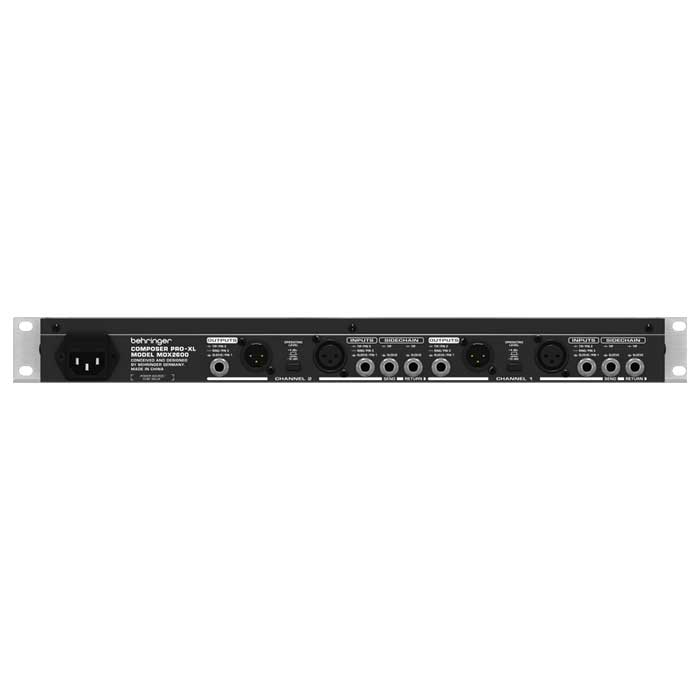 MDX2600_Rear - Behringer MDX-2600 Composer Pro XL 2-channel Processor