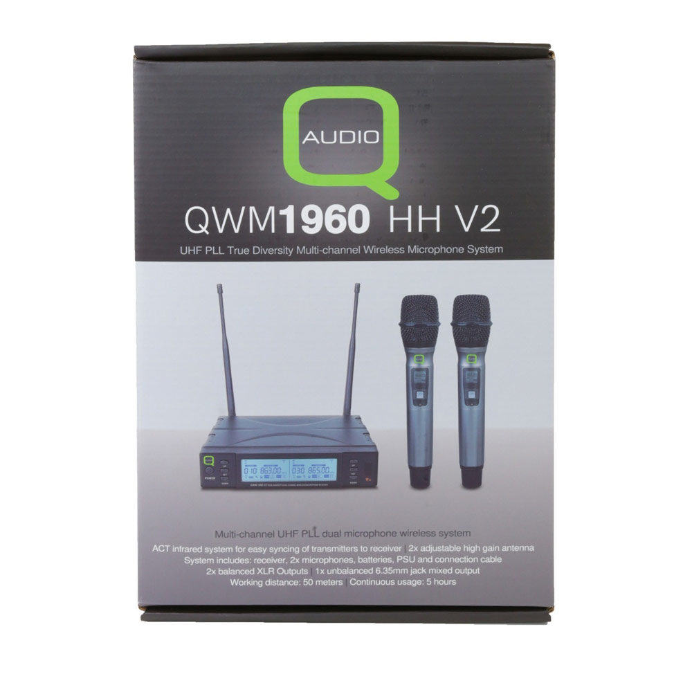 Q-Audio Hheld microphone QWM1960 Twin CH 38 V2