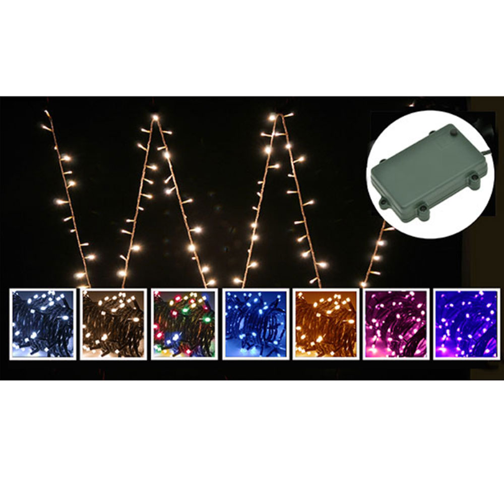 80 multi-coloured fairy lights LED battery powered
