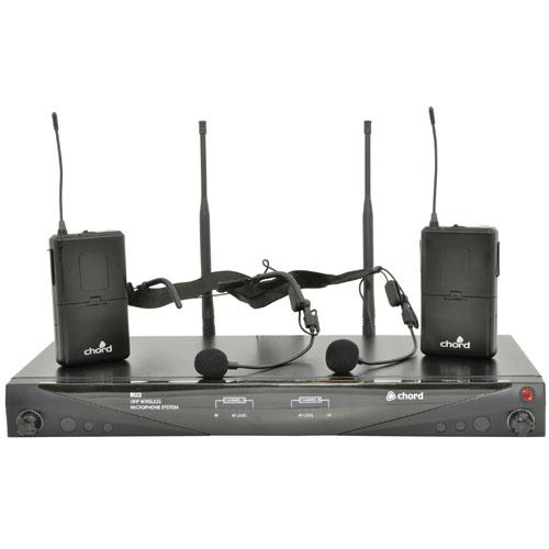 Chord RU2 Dual Wireless Microphone System Headset 863.8 + 864.8