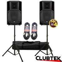Pair of RCF ART 712A MK4 Speakers 2800W with FREE Stands, Cables