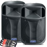 "Pair of FBT J12A 12"" Active Speakers & FREE CABLES"