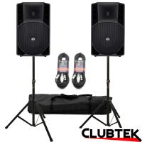 PAIR of RCF Art 715A MK4 Speakers 2800W + Free Stands, Cables
