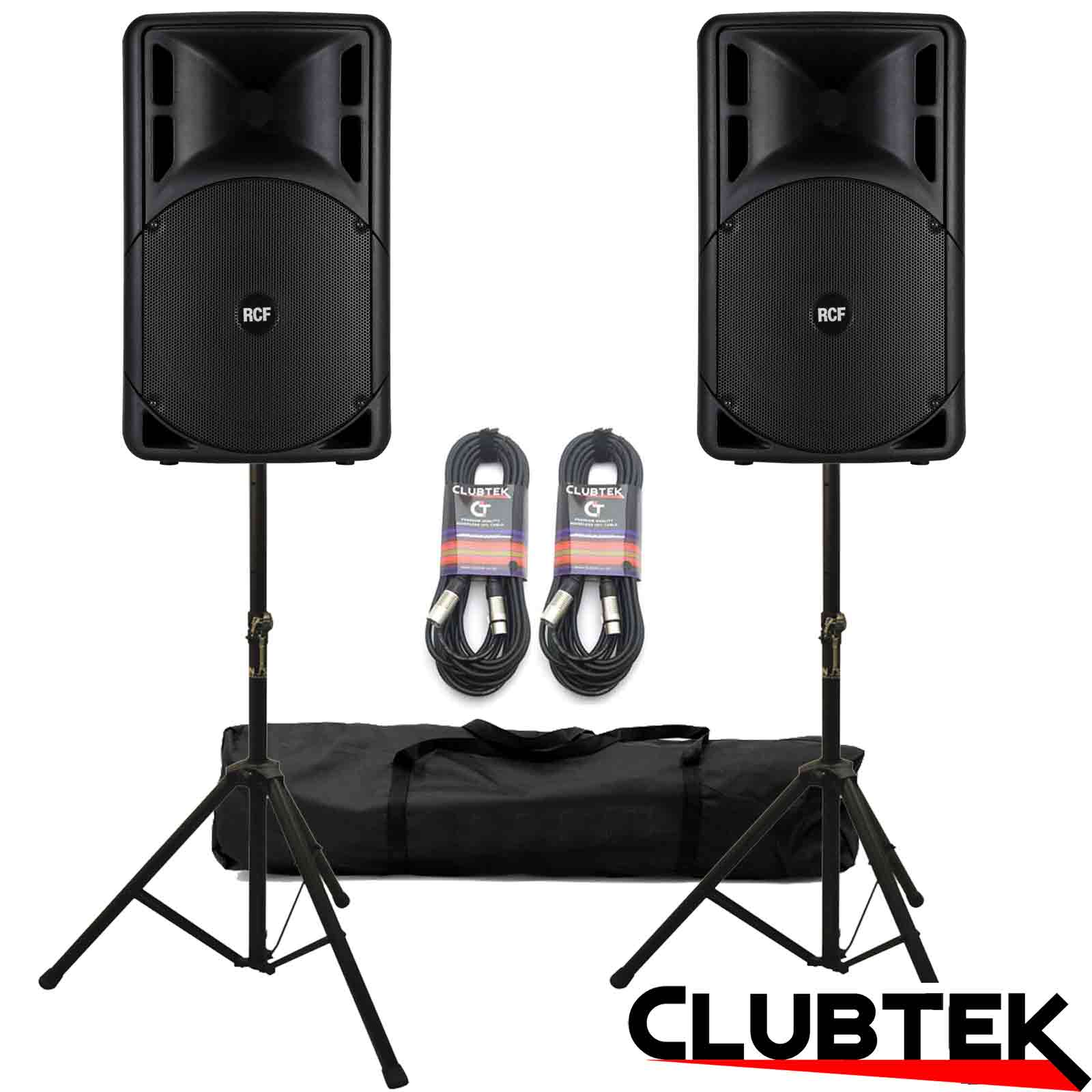 PAIR of RCF Art 312A MK 4 Speakers + Free Stands and Cables