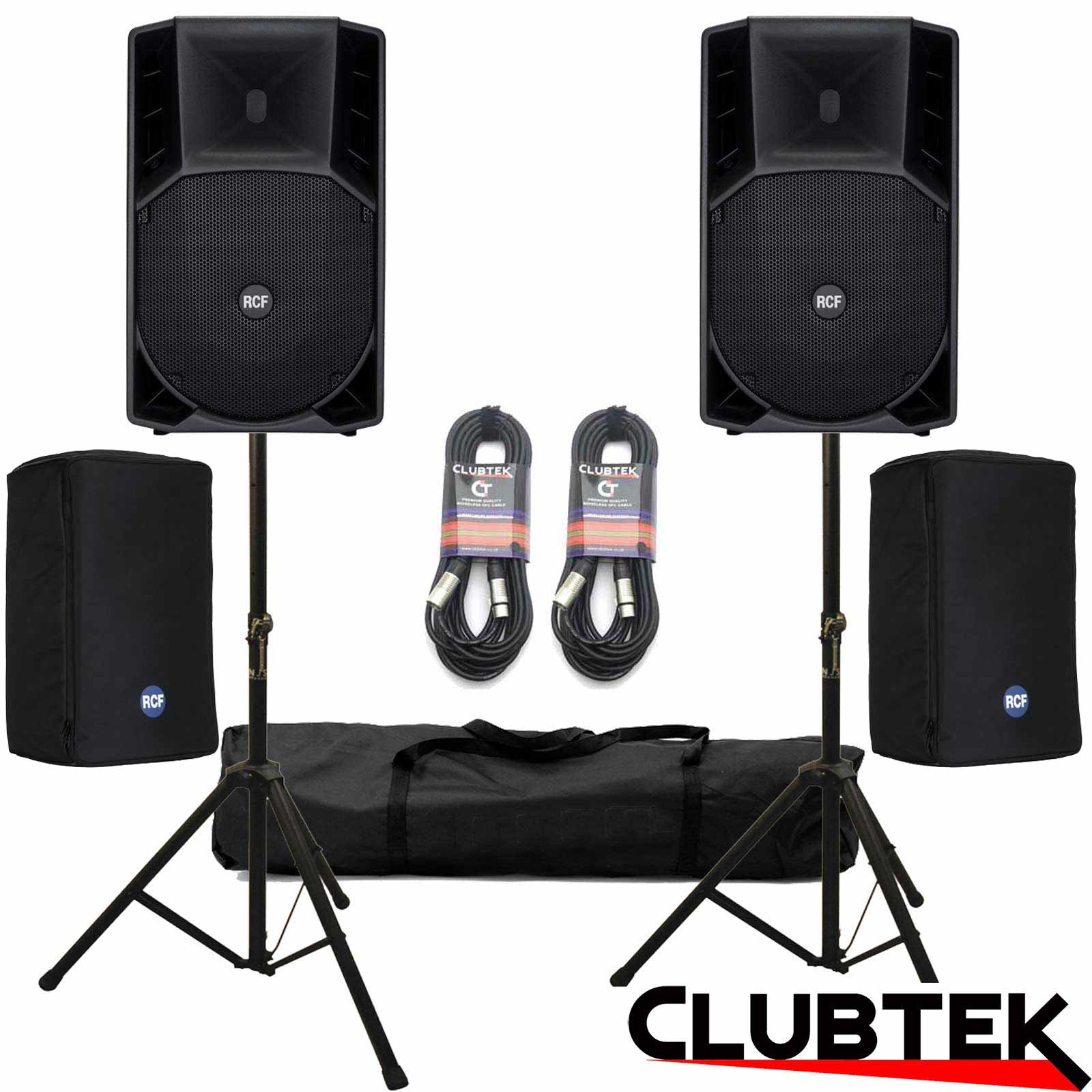 PAIR of RCF Art 715A MK4 Speakers + Covers + Free Stands, Cables