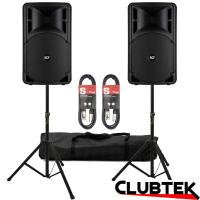PAIR of RCF Art 312A MK lll Speakers + Free Stands and Cables