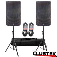 "Pair of TEK Audio TEK15 speakers 15"" + Free Stands and Cables"
