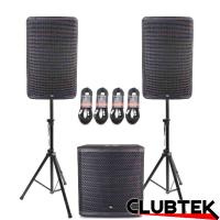 Pair of TEK Audio TEK12 speakers + TEK15S Free Stands and Cables