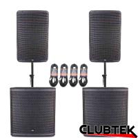 Pair of TEK Audio TEK12 speakers & TEK18S +Free Poles and Cables