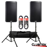 PAIR of Alto TS315 Speakers 4000W + Free Stands and Cables