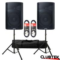 PAIR of Alto TX215 Speakers 1200W + Free Stands and Cables