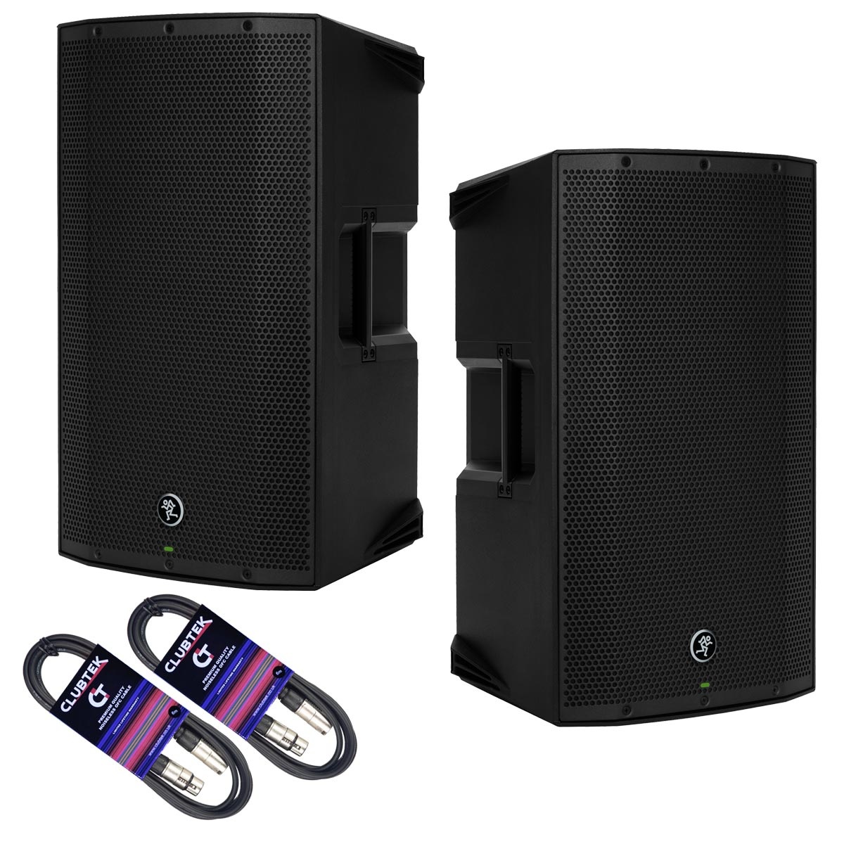 PAIR of Mackie Thump12A TH12 active speaker 1300W +free cables