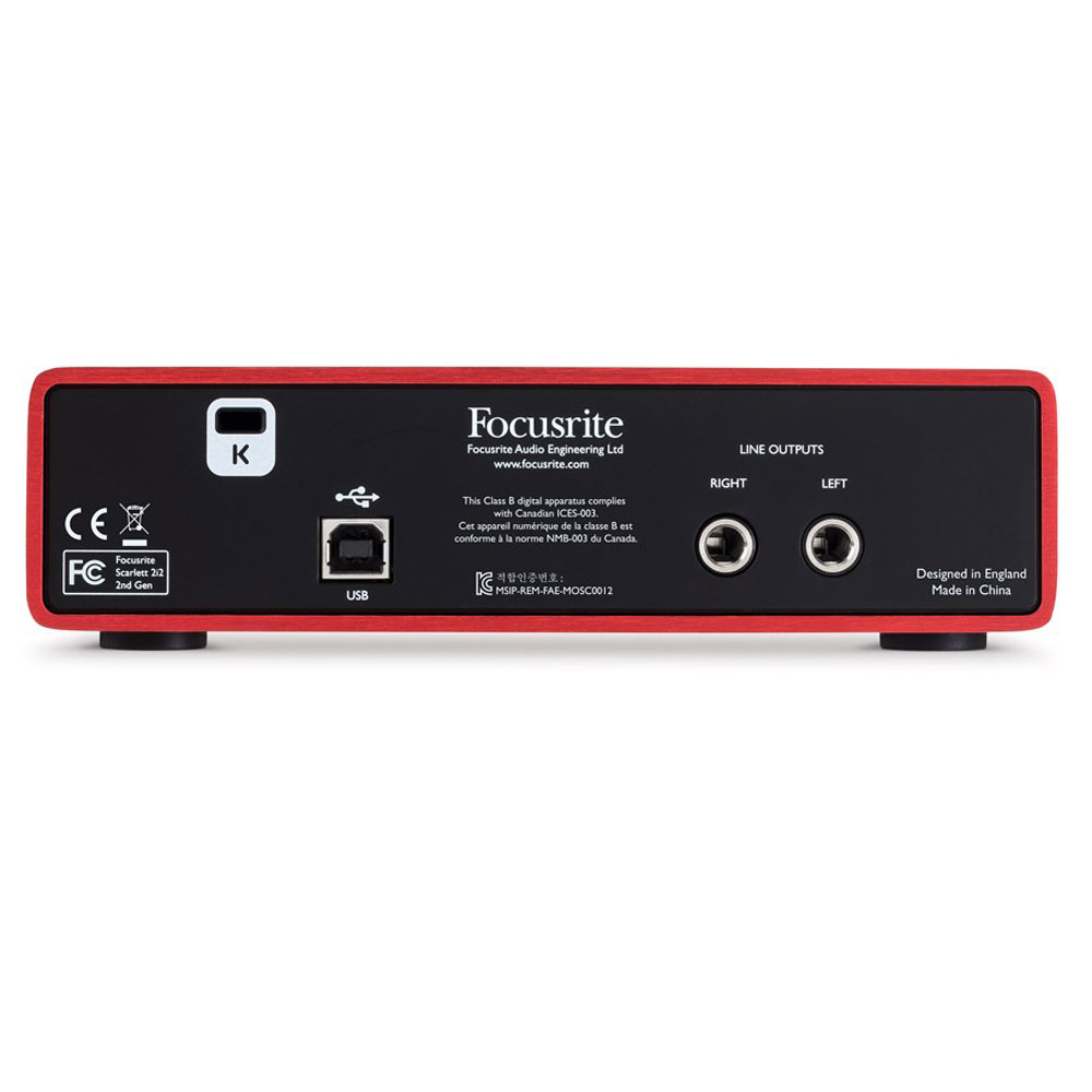 Focusrite Scarlett 2i2 (2nd Gen) Audio Interface