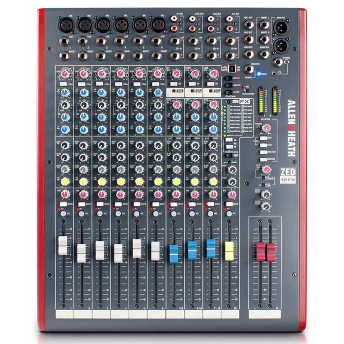 Allen & Heath ZED12FX 12 Channel Mixing Desk