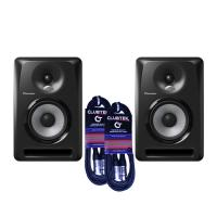 "Pioneer 5"" S-DJ50X Studio Monitors - Pair with cables"