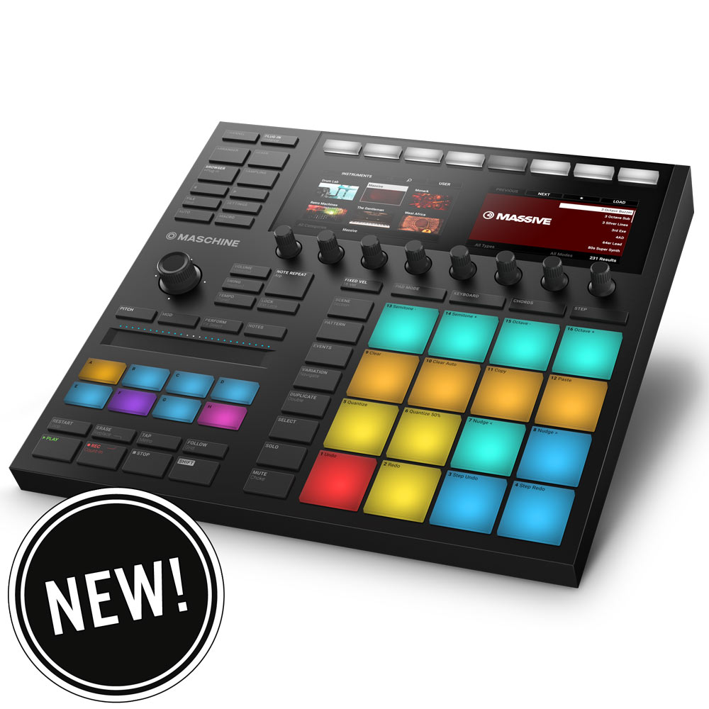 New Maschine MK3 from Native Instruments - N.I. Maschine MK3 Midi Controller
