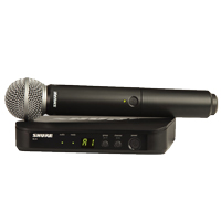 Shure BLX24 with SM58 Wireless Handheld Microphone